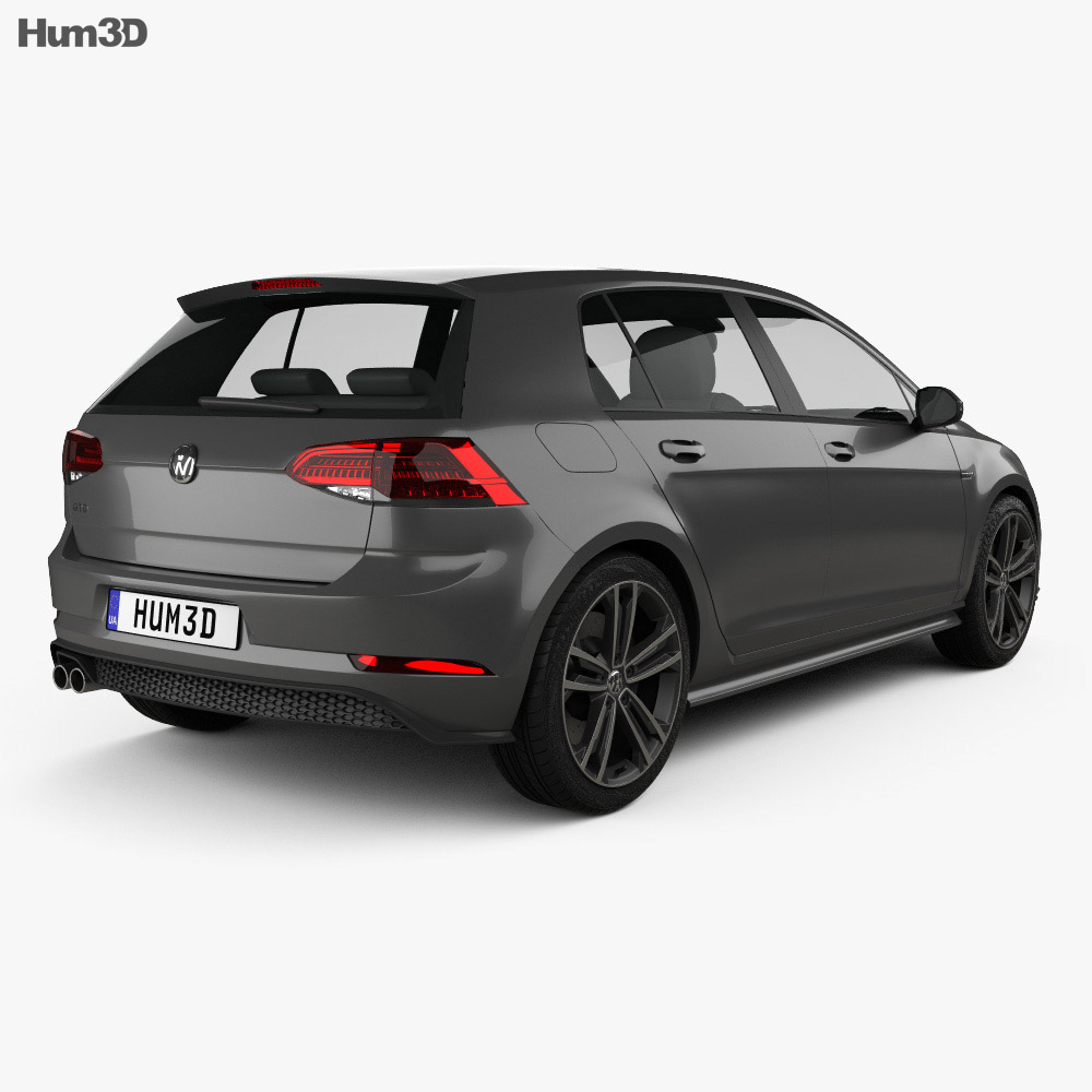 Volkswagen Golf GTD 5-door 2017 3d model