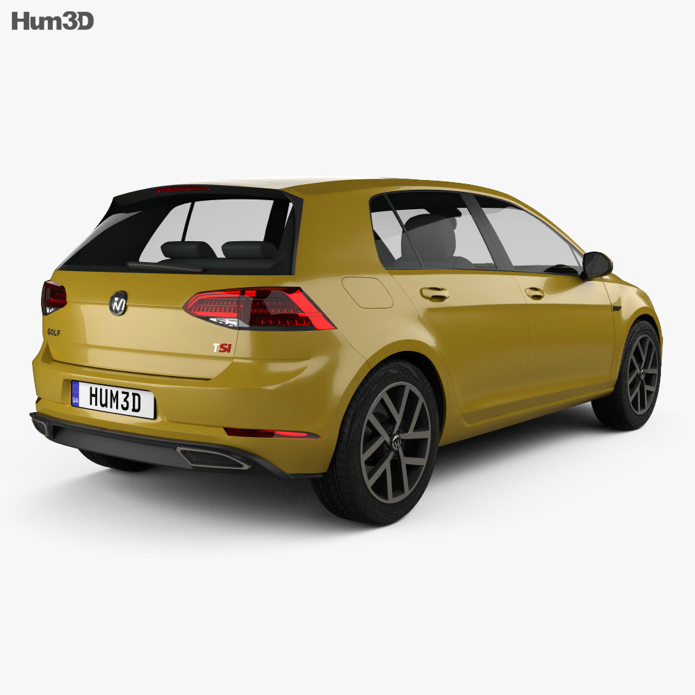 Volkswagen Golf R-Line 2017 3d model