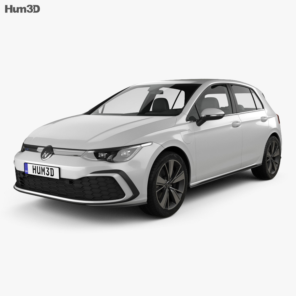 Volkswagen Golf GTE 5-door hatchback 2020 3d model