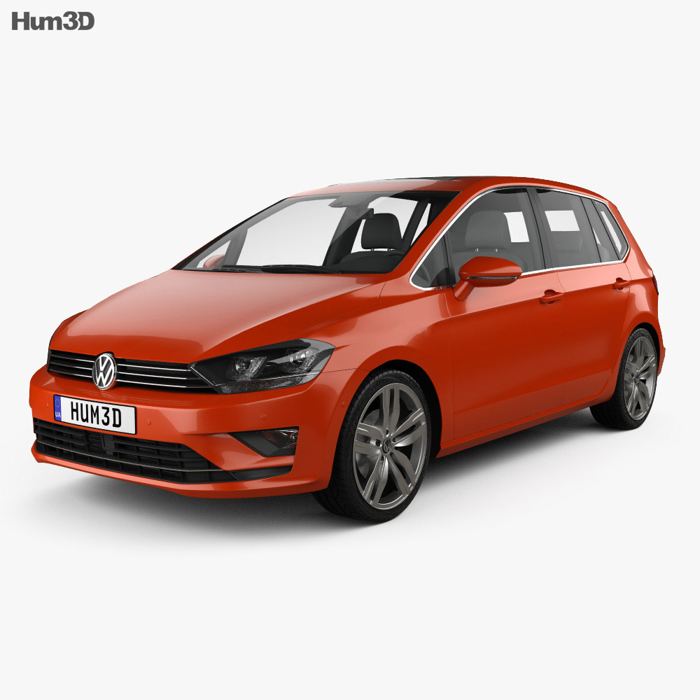 Volkswagen Golf Sportsvan 2014 3d model