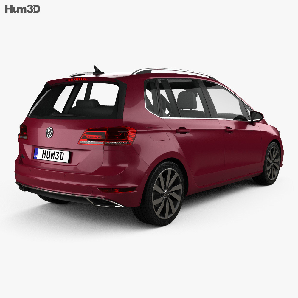 Volkswagen Golf Sportswan 2017 3d model