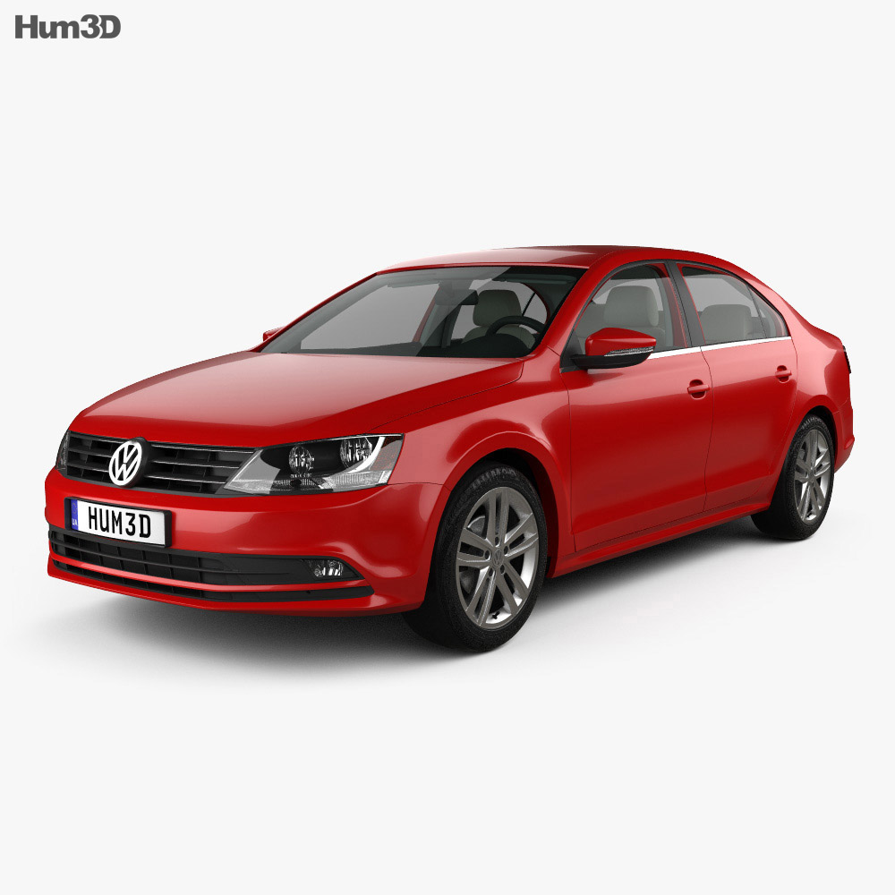 Volkswagen Jetta with HQ interior 2015 3d model