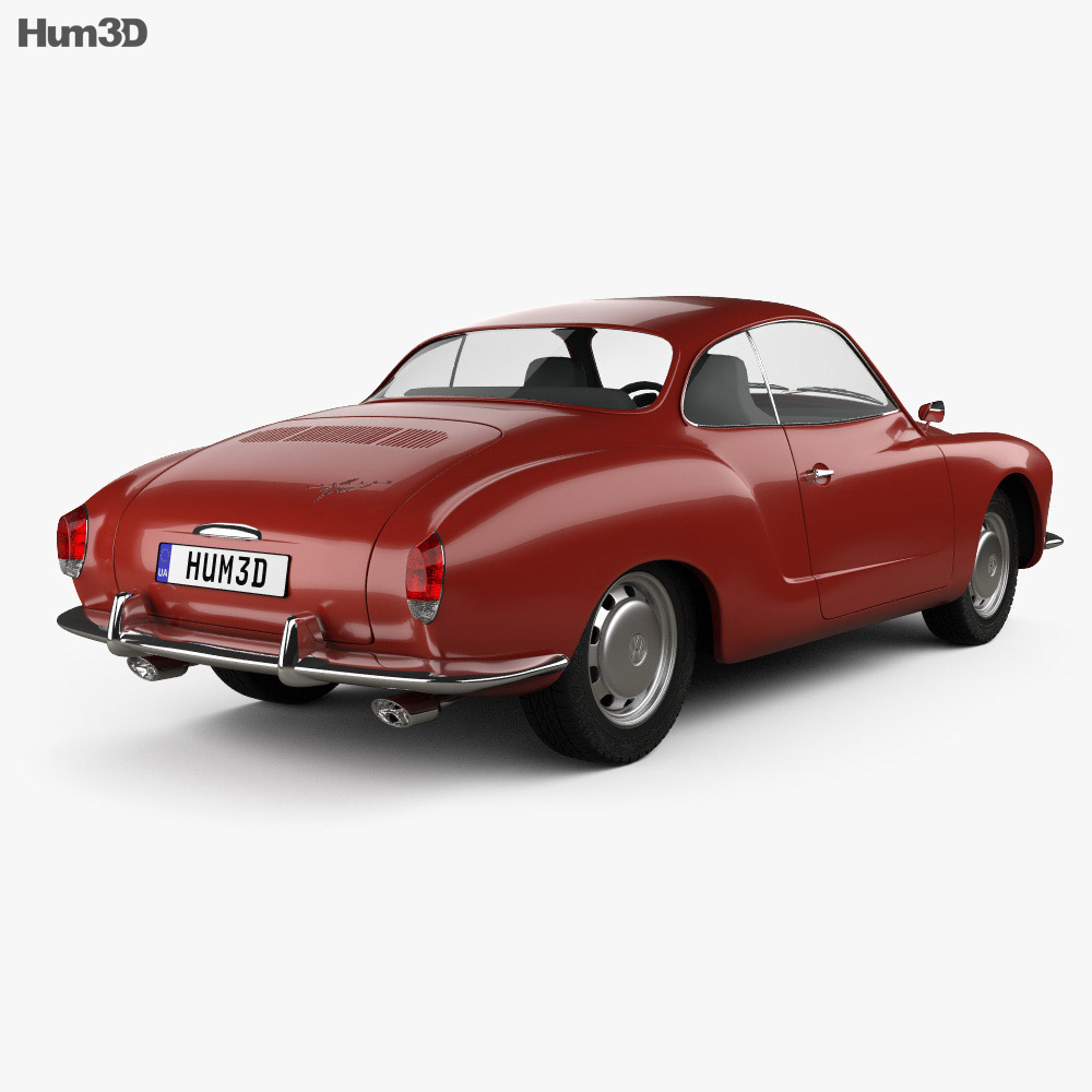 Volkswagen Karmann Ghia 1955 3d model