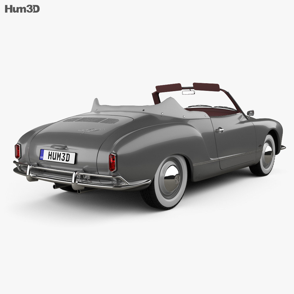 Volkswagen Karmann Ghia convertible 1958 3d model