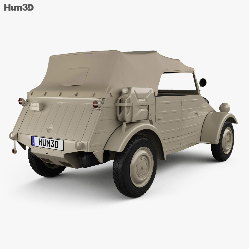 Volkswagen Kubelwagen 1945 3d model