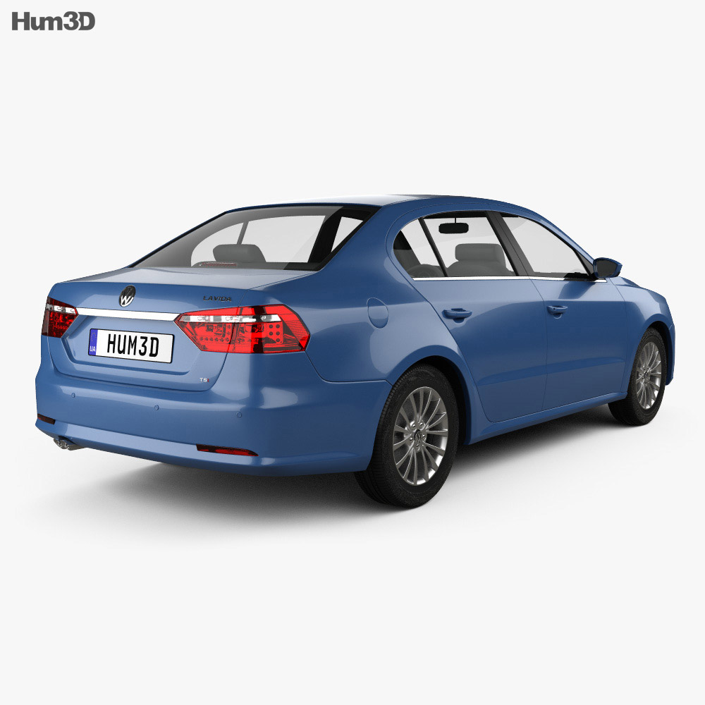 Volkswagen Lavida 2012 3d model back view