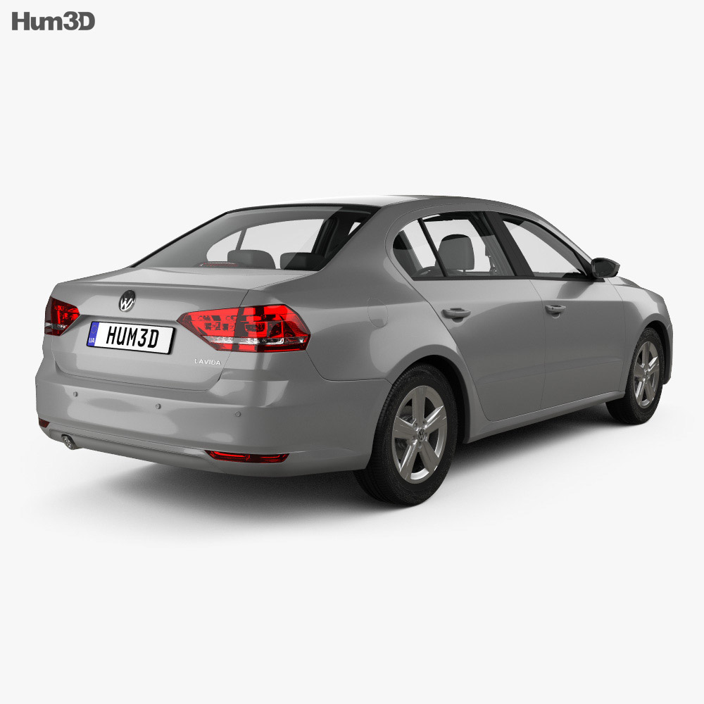 Volkswagen Lavida sedan with HQ interior 2015 3d model