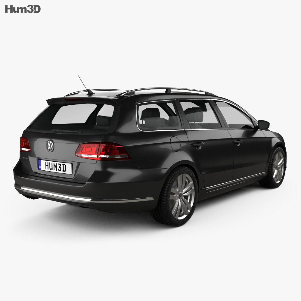 volkswagen passat b7 variant 2011 3d model vehicles on. Black Bedroom Furniture Sets. Home Design Ideas