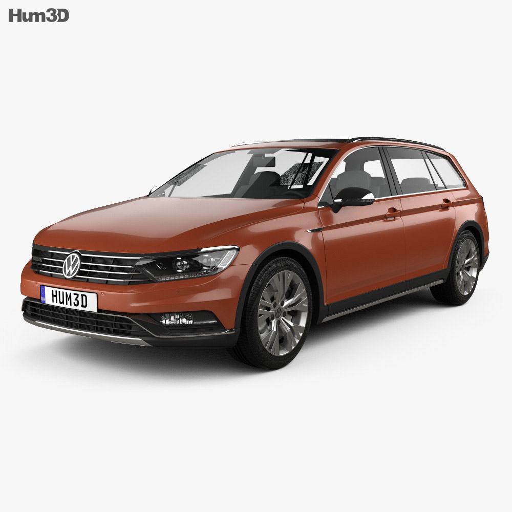 volkswagen passat b8 alltrack 2016 3d model humster3d. Black Bedroom Furniture Sets. Home Design Ideas