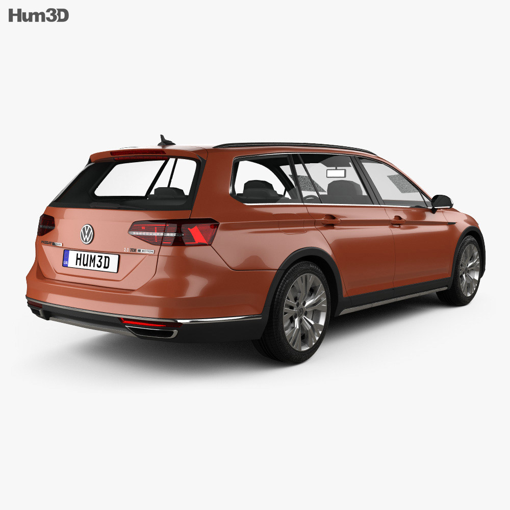 volkswagen passat b8 alltrack 2016 3d model vehicles. Black Bedroom Furniture Sets. Home Design Ideas