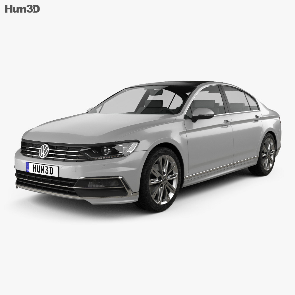 volkswagen passat r line b8 sedan 2015 3d model humster3d. Black Bedroom Furniture Sets. Home Design Ideas