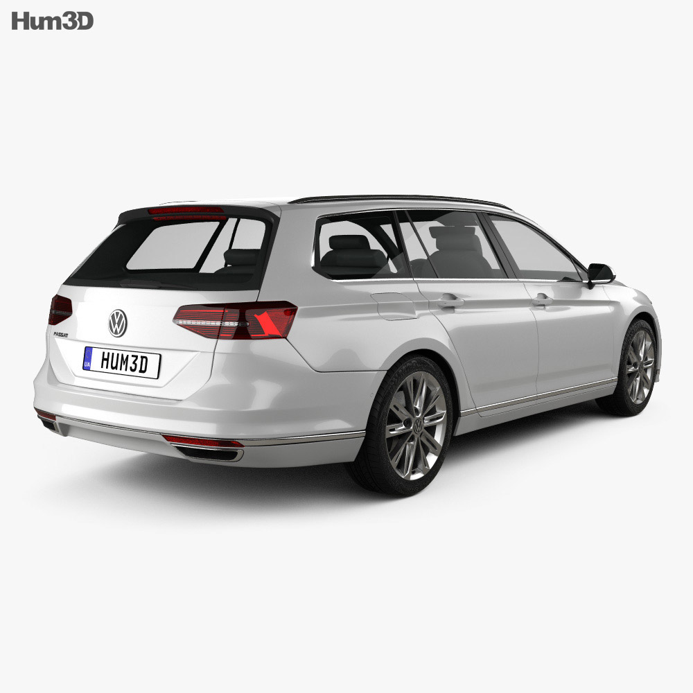volkswagen passat b8 sedan r line 2015 3d model hum3d. Black Bedroom Furniture Sets. Home Design Ideas