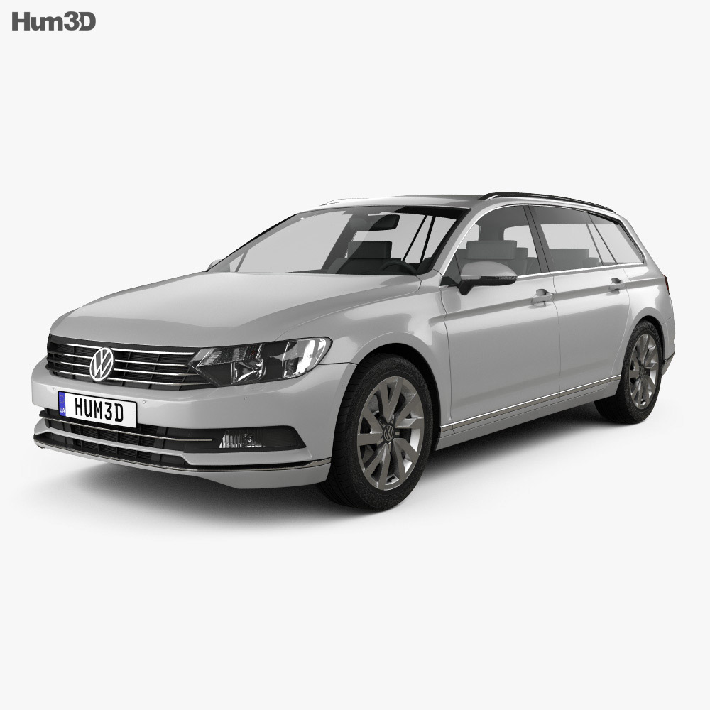 volkswagen passat b8 variant s 2014 3d model hum3d. Black Bedroom Furniture Sets. Home Design Ideas