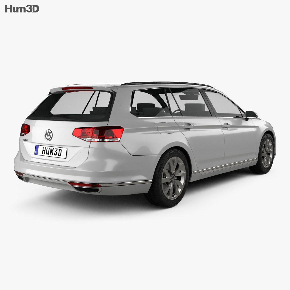 volkswagen passat b8 variant s 2014 3d model hum3d. Black Bedroom Furniture Sets. Home Design Ideas