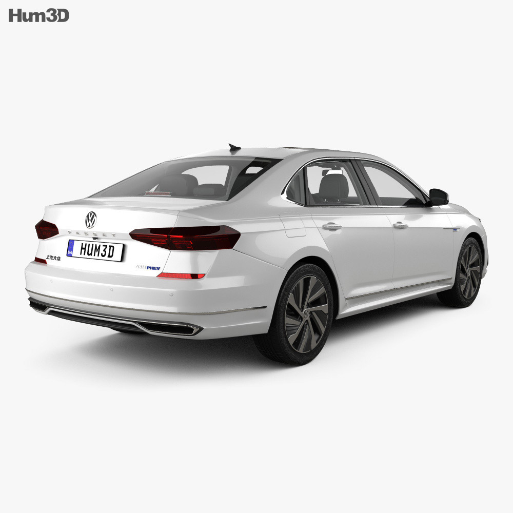 Volkswagen Passat PHEV CN-spec with HQ interior 2019 3d model