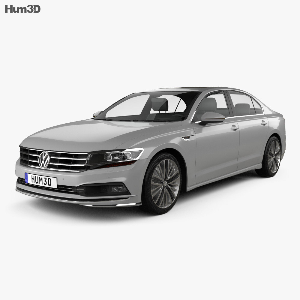 volkswagen phideon 2017 3d model hum3d. Black Bedroom Furniture Sets. Home Design Ideas