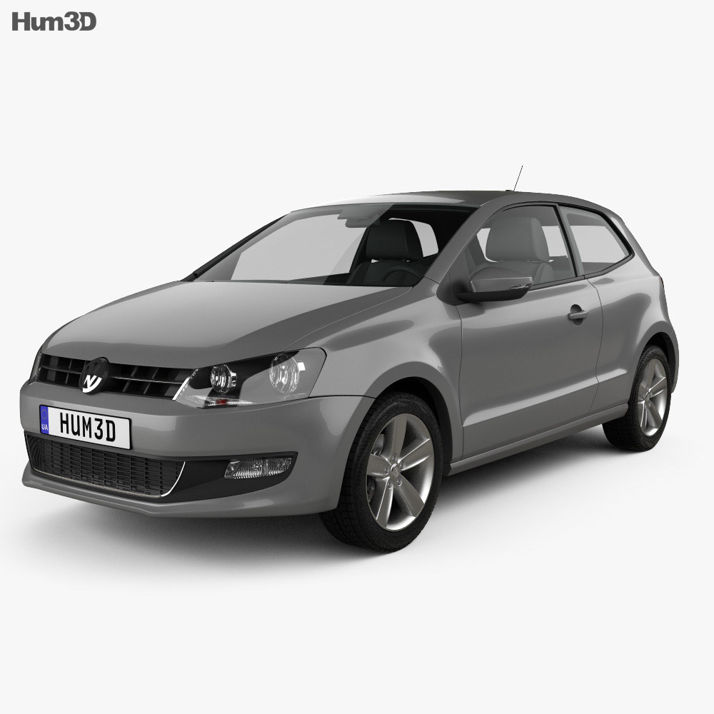 Volkswagen Polo 3-door 2010 3d model