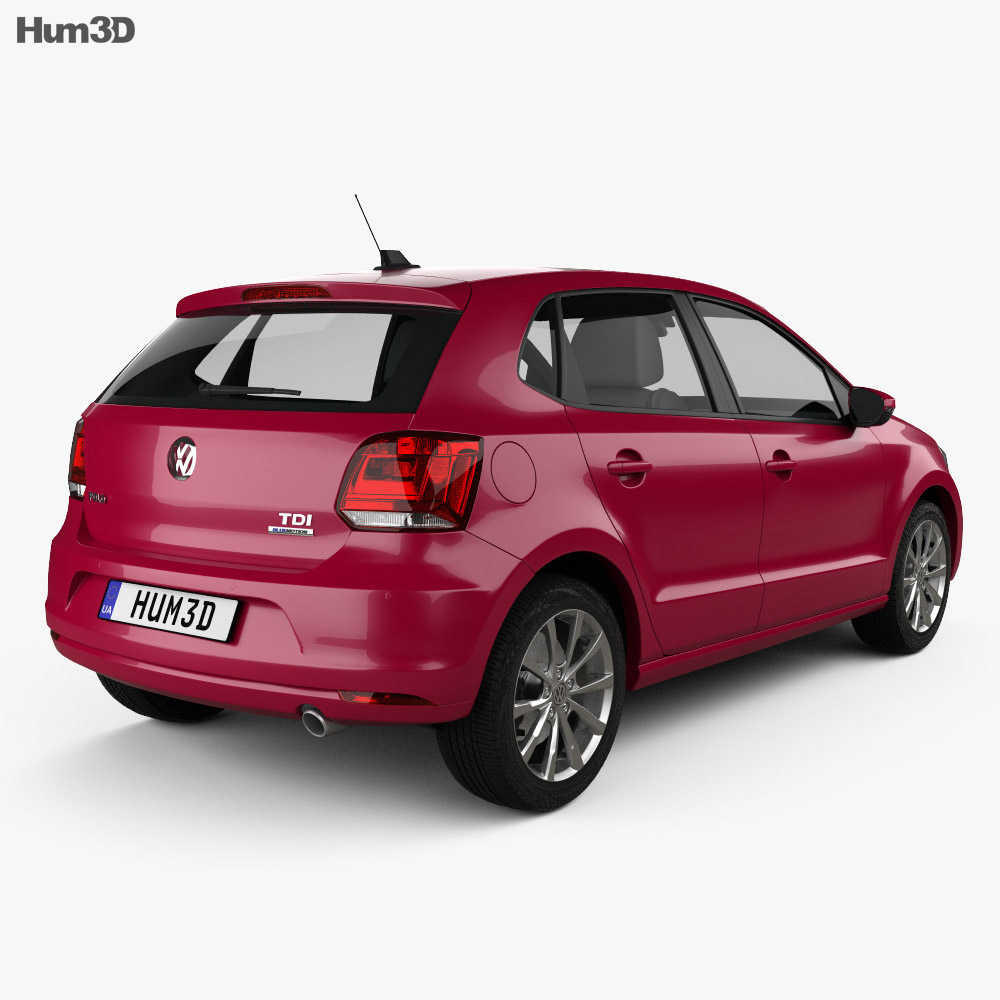 Volkswagen Polo 5-door 2014 3d model
