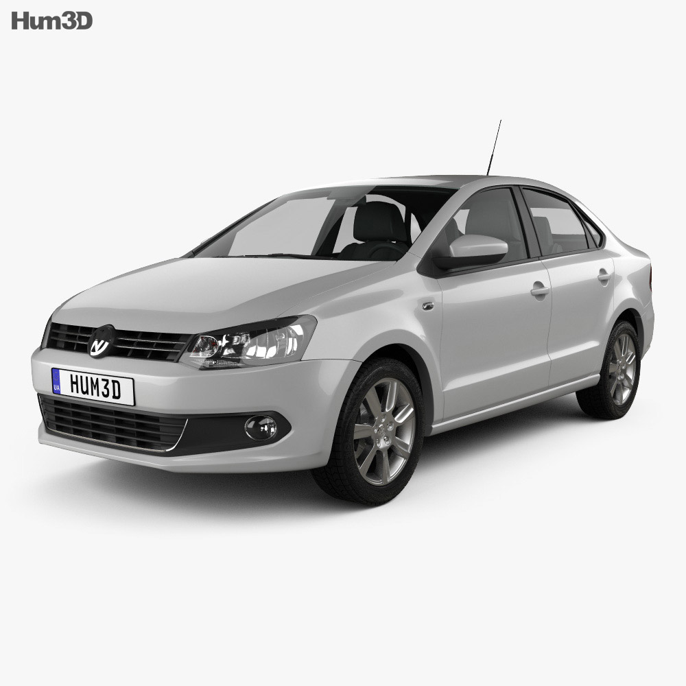 Volkswagen Polo sedan 2012 3D model - Vehicles on Hum3D