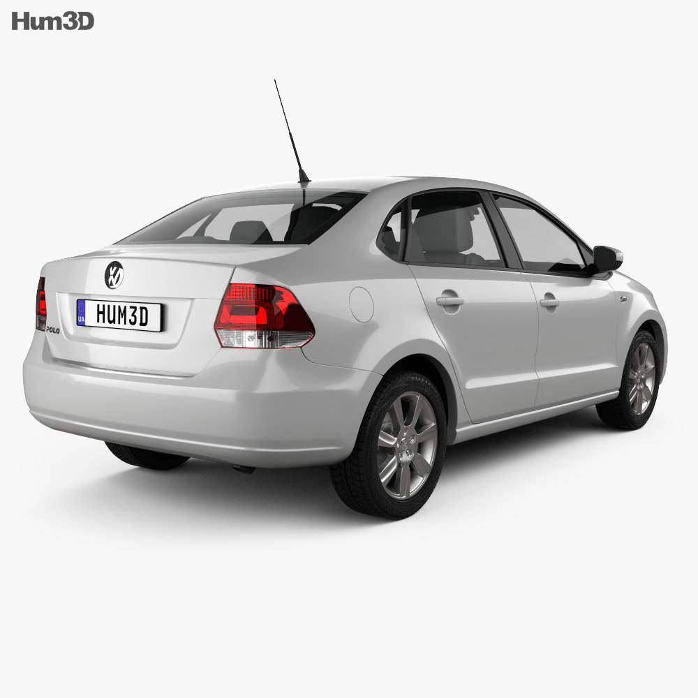Volkswagen Polo sedan 2012 3d model