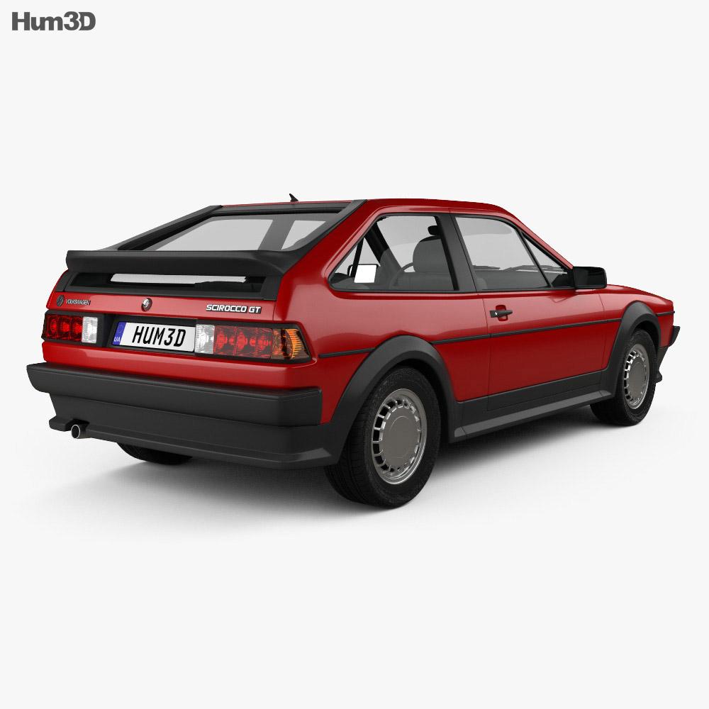 Volkswagen Scirocco 1986 3d model