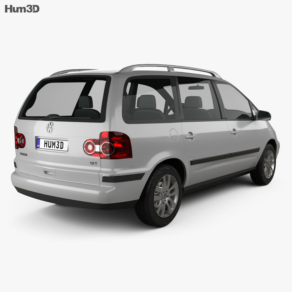 Volkswagen Sharan 2004 3d model
