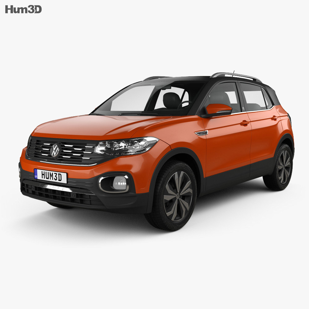 Volkswagen T-Cross Highline 2019 3d model