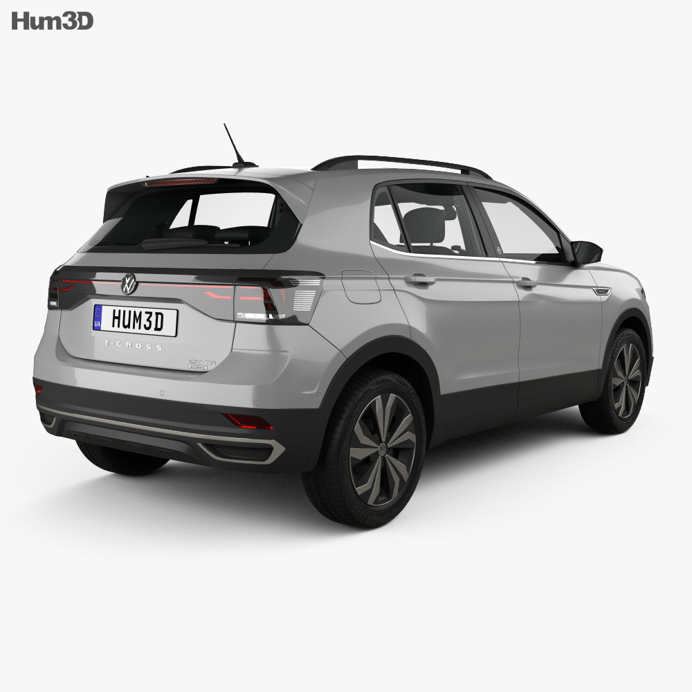 Volkswagen T-Cross Highline with HQ interior 2019 3d model