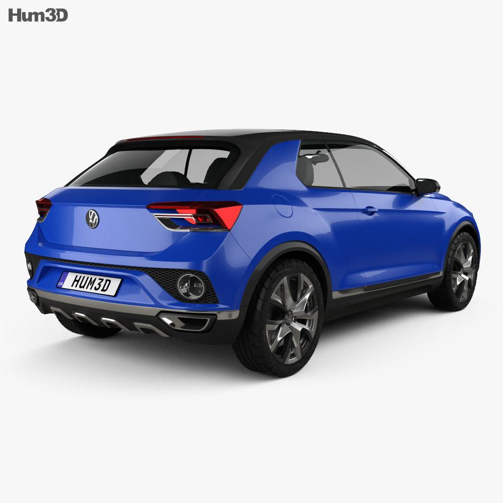 Volkswagen T-Roc 2014 3d model back view