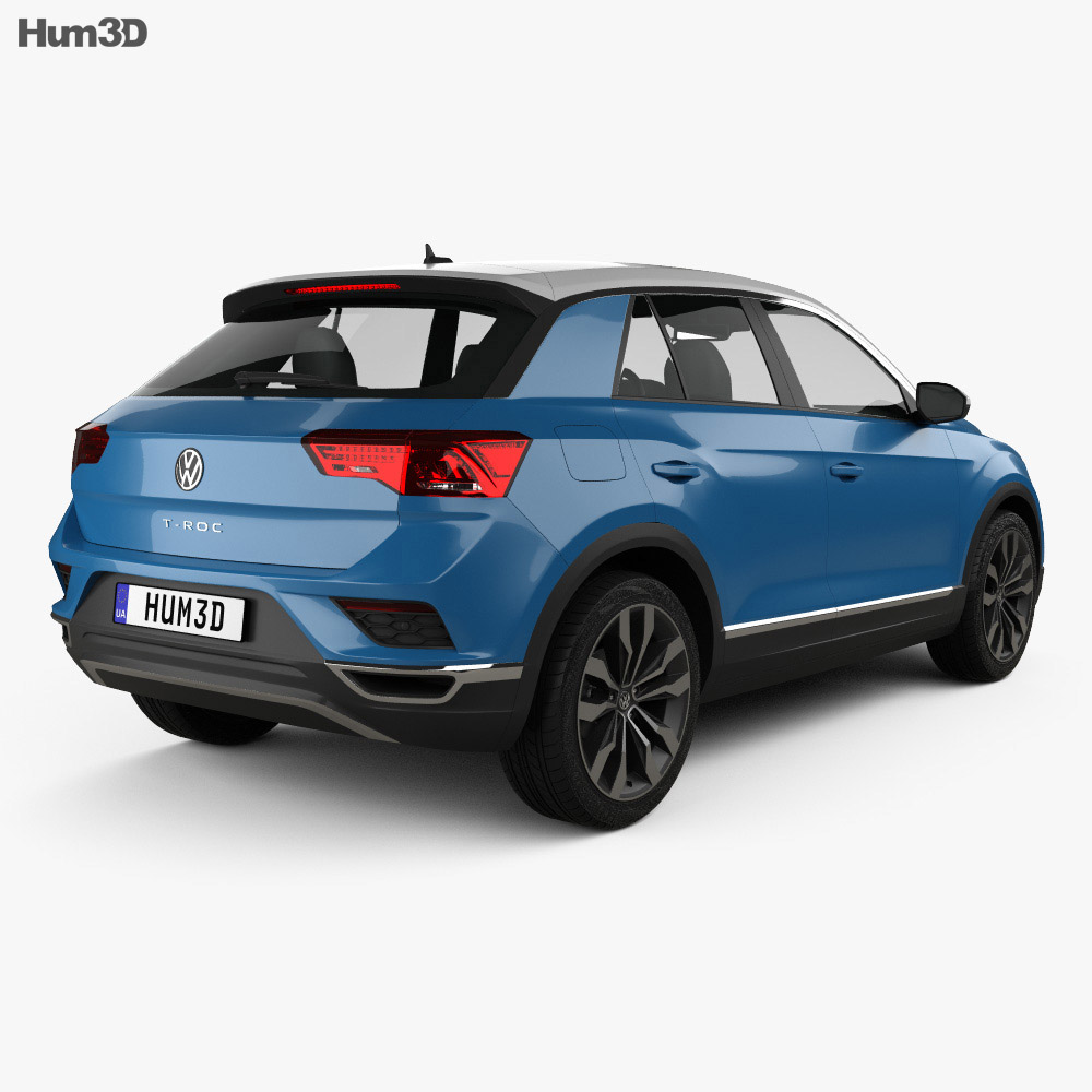 Volkswagen T-Roc 2017 3d model