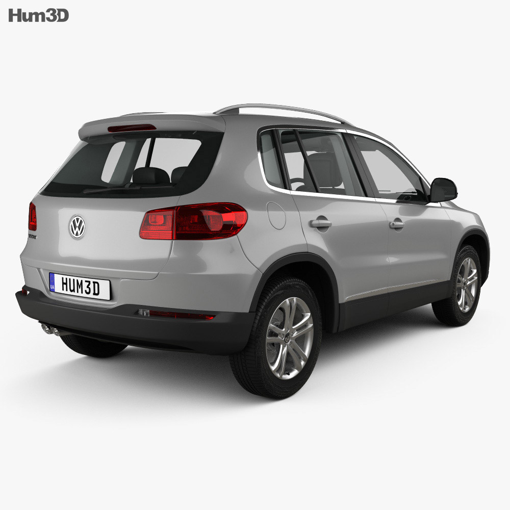 Volkswagen Tiguan Sport & Style with HQ interior 2012 3d model