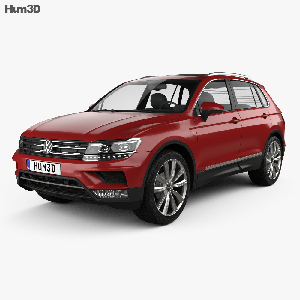 volkswagen tiguan 2015 3d model hum3d. Black Bedroom Furniture Sets. Home Design Ideas