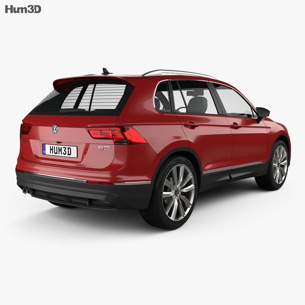 volkswagen tiguan 2015 3d model vehicles on hum3d. Black Bedroom Furniture Sets. Home Design Ideas