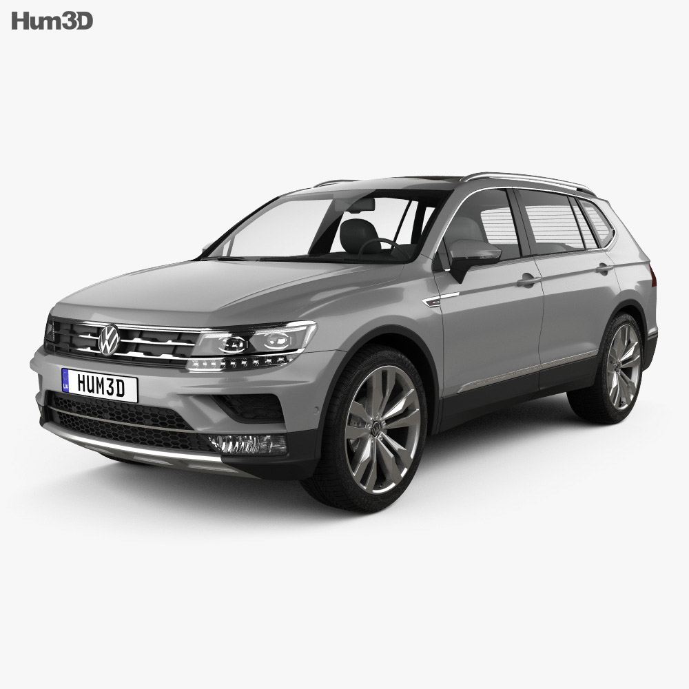volkswagen tiguan allspace 2017 3d model hum3d. Black Bedroom Furniture Sets. Home Design Ideas