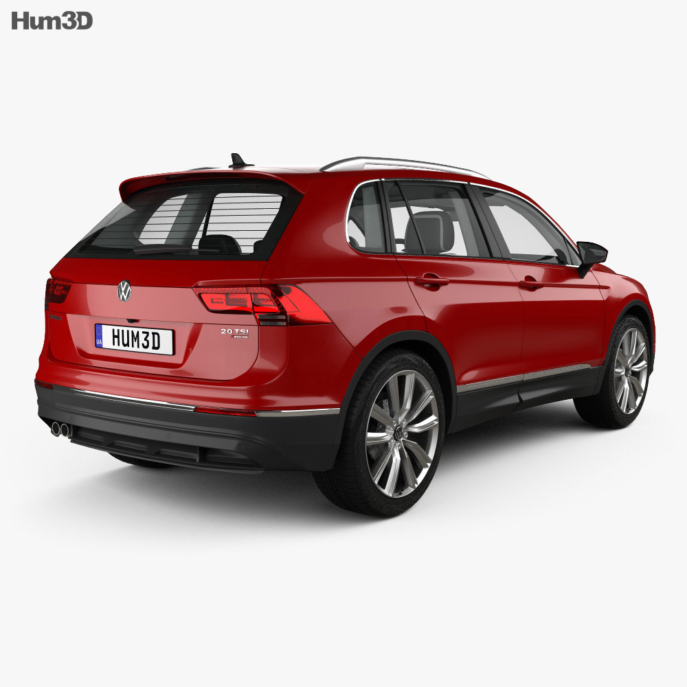 Volkswagen Tiguan with HQ interior 2015 3d model