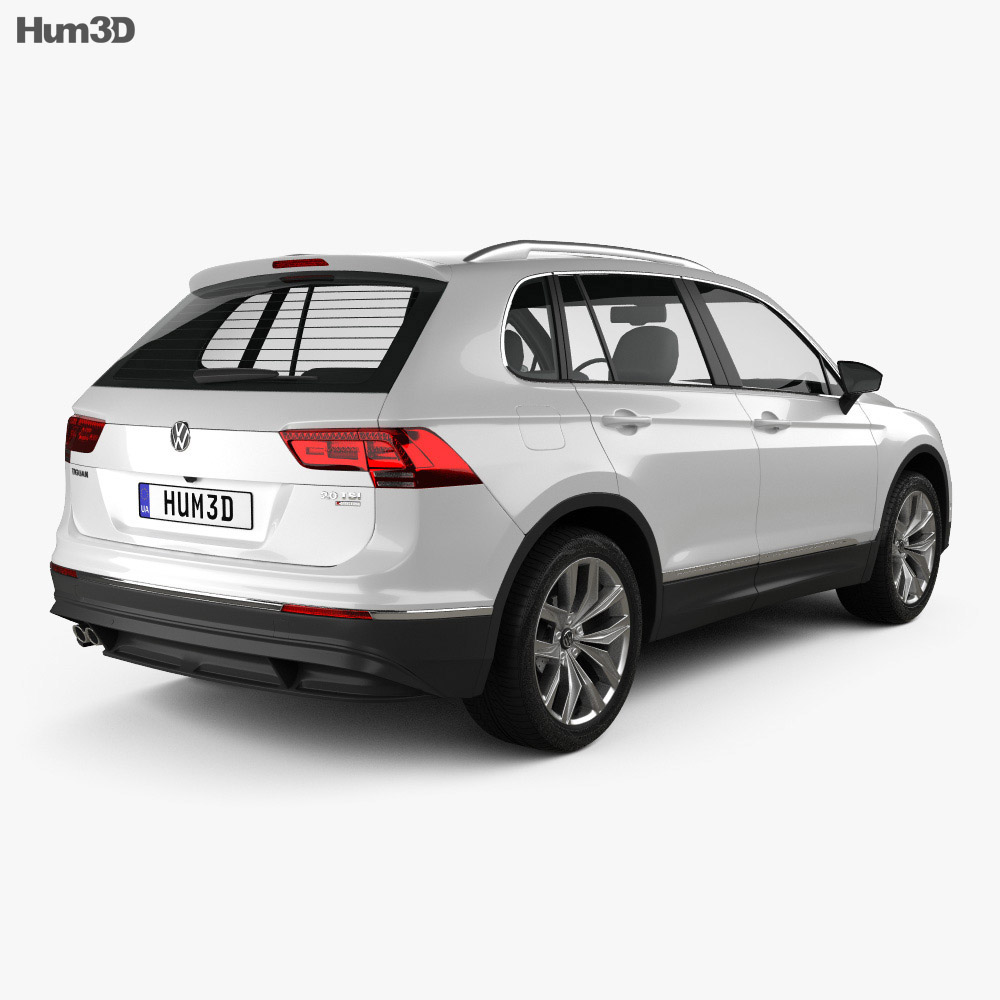 Volkswagen Tiguan Highline 2015 3d model