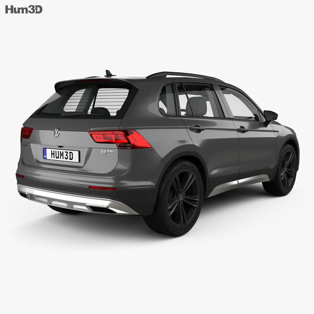 Volkswagen Tiguan Off-road with HQ interior 2015 3d model