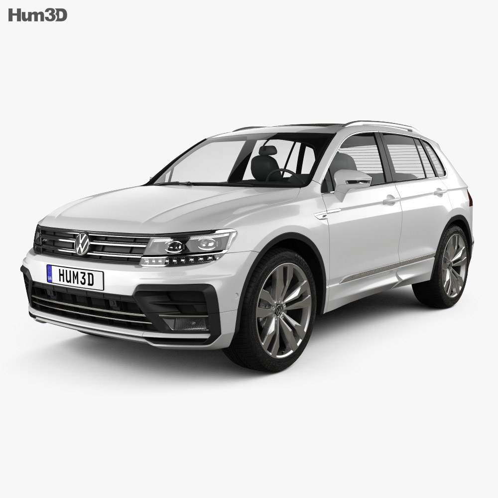 volkswagen tiguan r line 2015 3d model hum3d. Black Bedroom Furniture Sets. Home Design Ideas