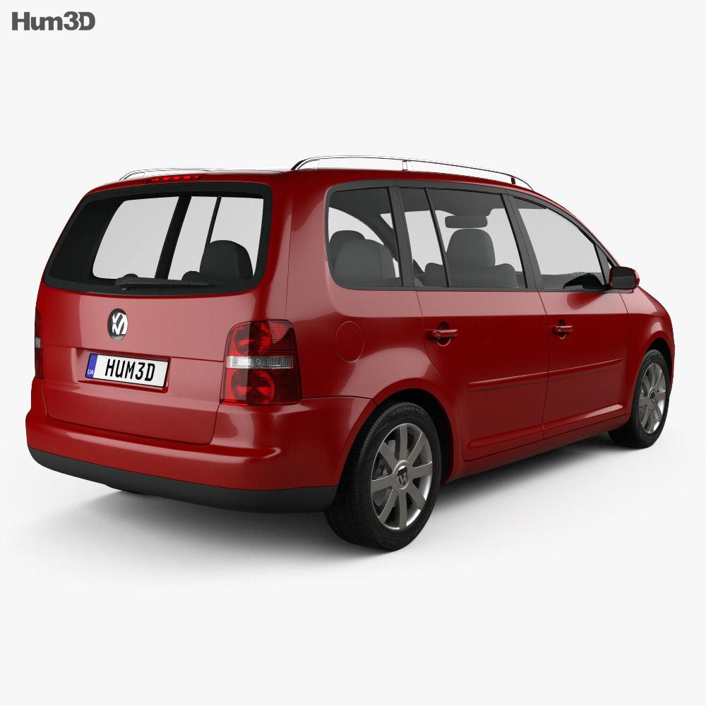 volkswagen touran 2003 3d model humster3d. Black Bedroom Furniture Sets. Home Design Ideas