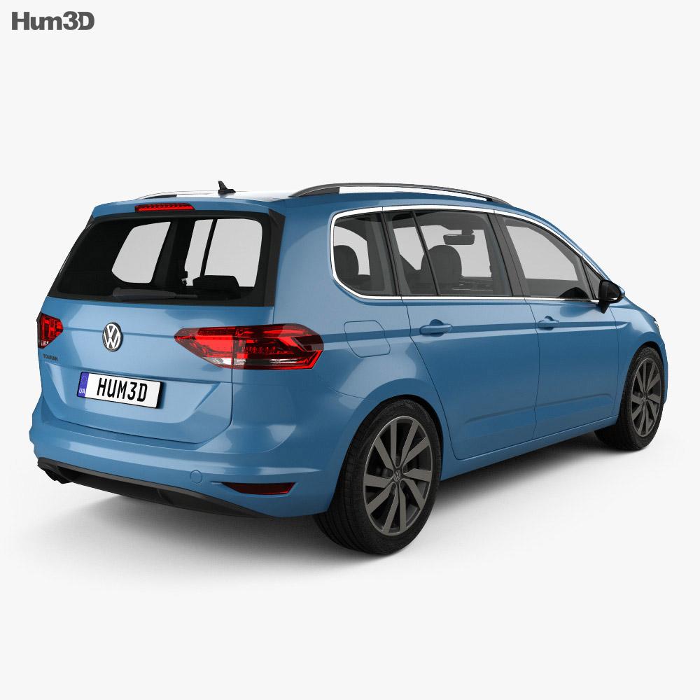 Volkswagen Touran with HQ interior 2015 3d model