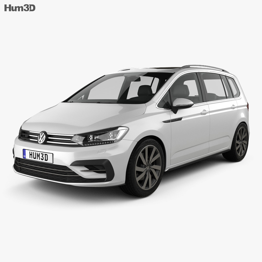 Volkswagen Touran R-Line 2015 3d model