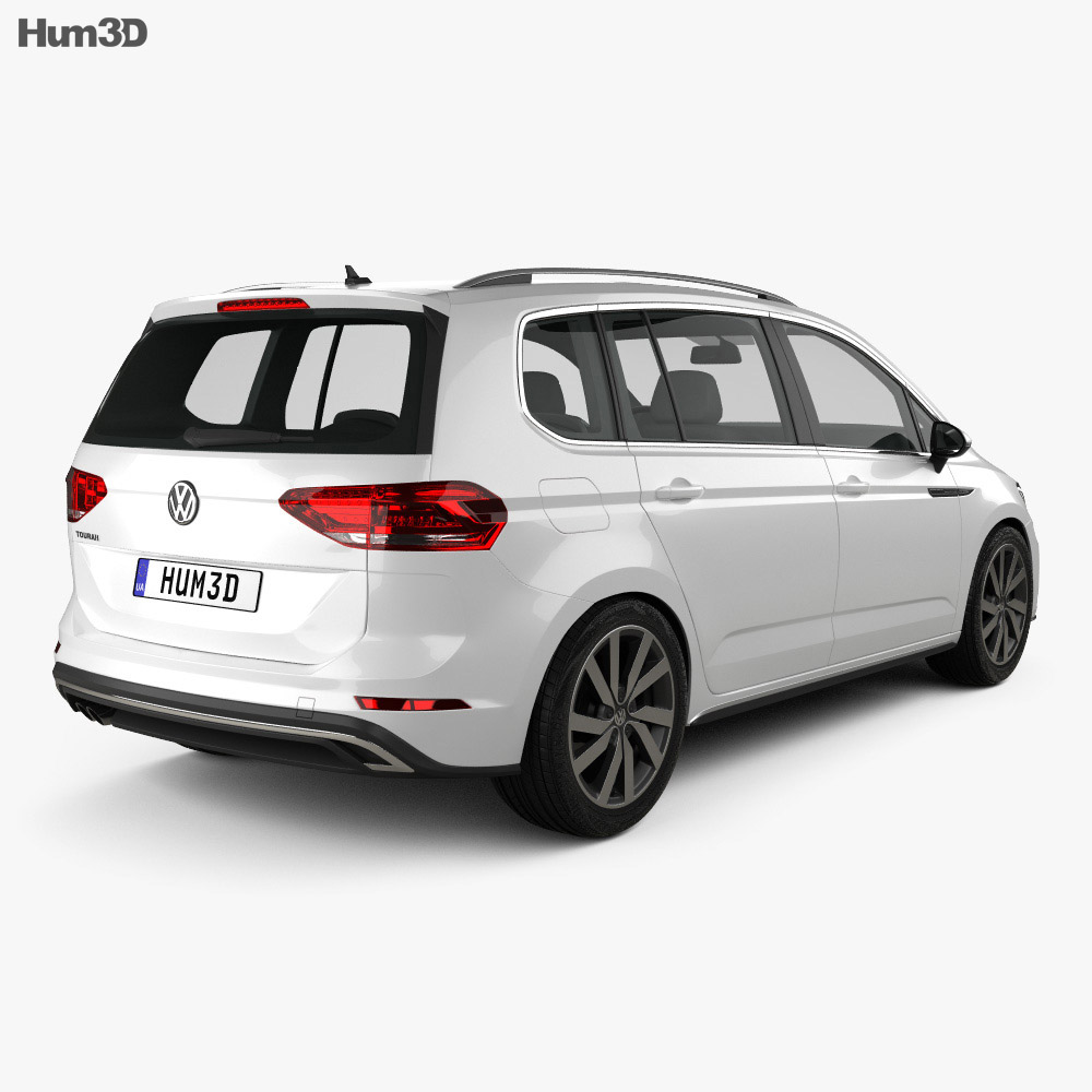 volkswagen touran r line 2015 3d model vehicles on hum3d. Black Bedroom Furniture Sets. Home Design Ideas