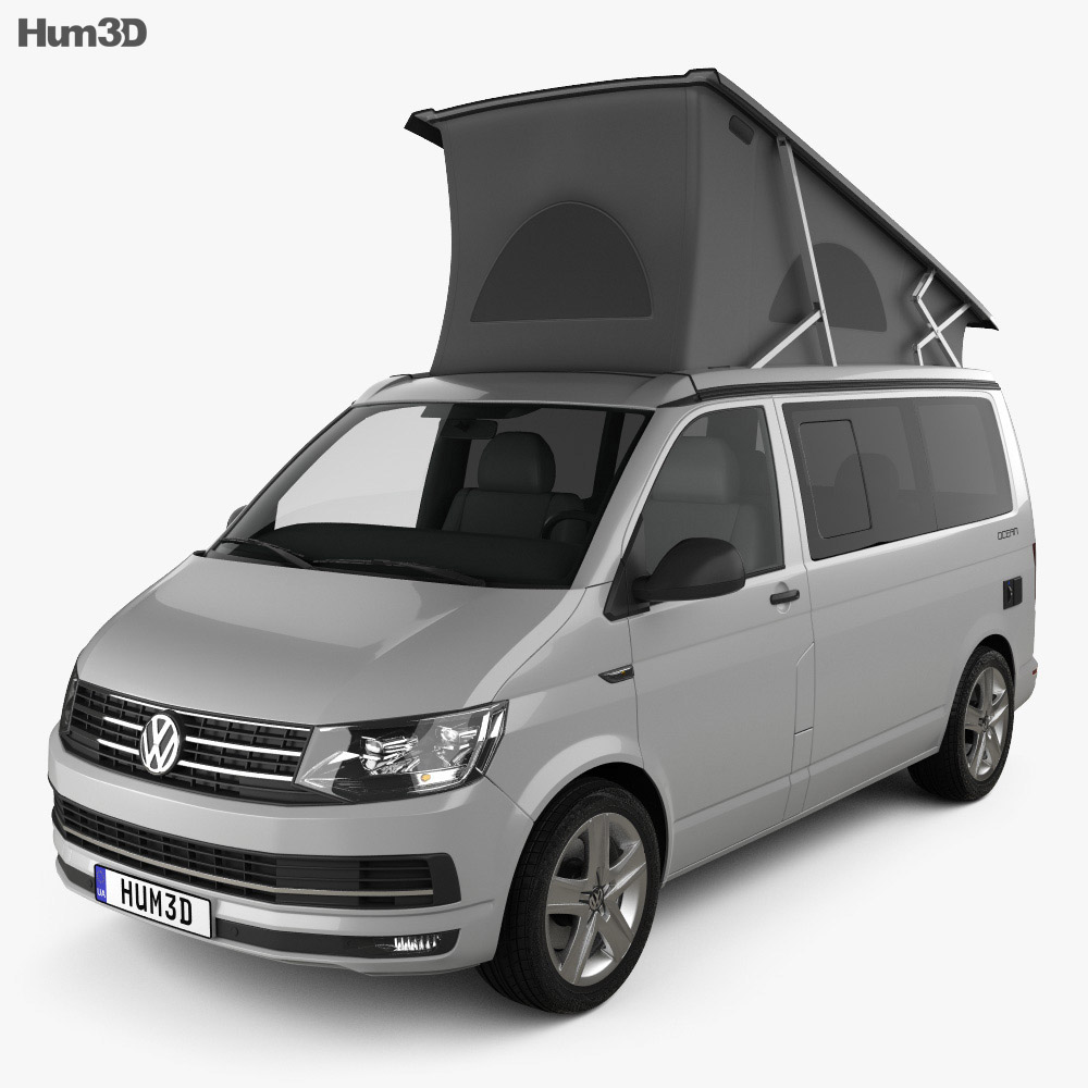 volkswagen transporter t6 california 2016 3d model hum3d. Black Bedroom Furniture Sets. Home Design Ideas