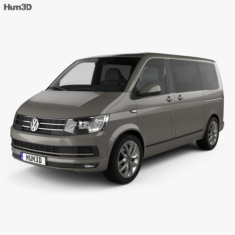 volkswagen transporter t6 multivan 2016 3d model vehicles on hum3d. Black Bedroom Furniture Sets. Home Design Ideas