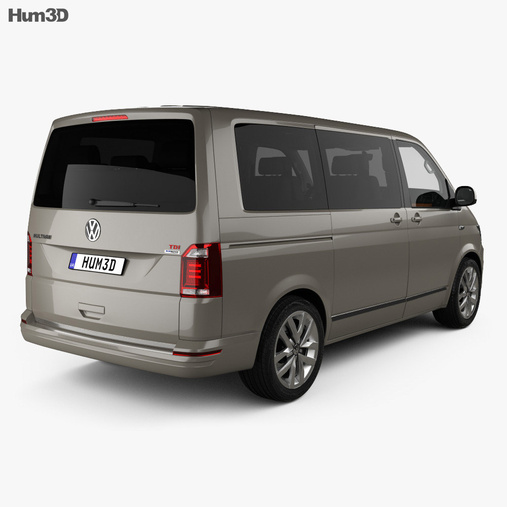 Volkswagen Transporter (T6) Multivan with HQ interior 2016 3d model