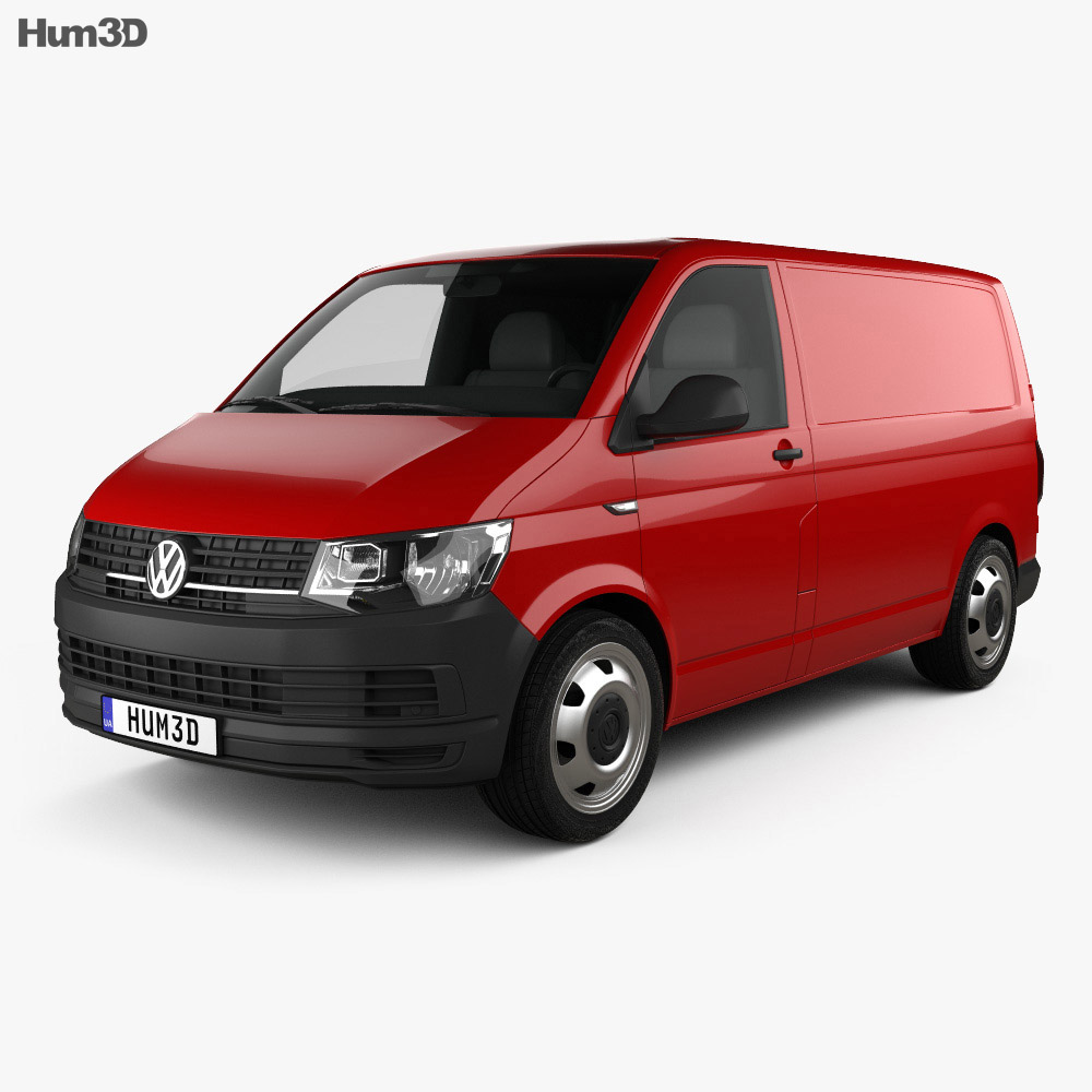 volkswagen transporter t6 panel van 2016 3d model. Black Bedroom Furniture Sets. Home Design Ideas