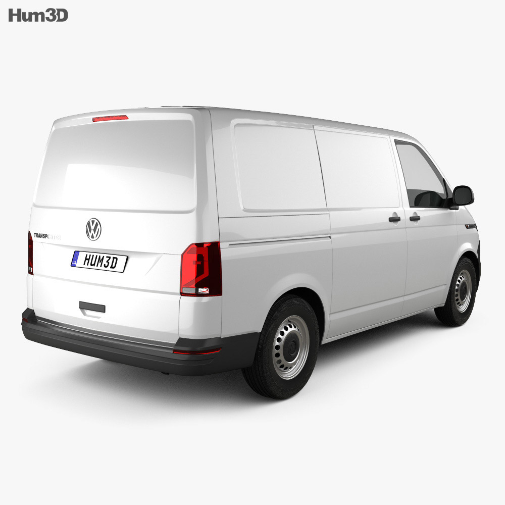 Volkswagen Transporter Panel Van Startline 2019 3d model
