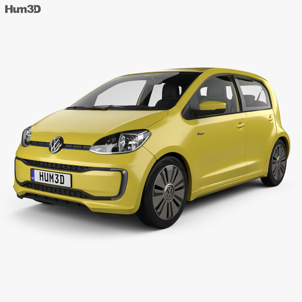 Volkswagen e-Up 5-door with HQ interior 2016 3d model