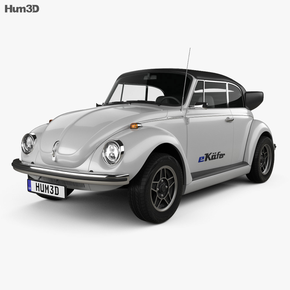 Volkswagen e-Beetle 2019 3d model