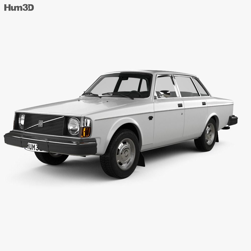Volvo 244 sedan 1975 3d model